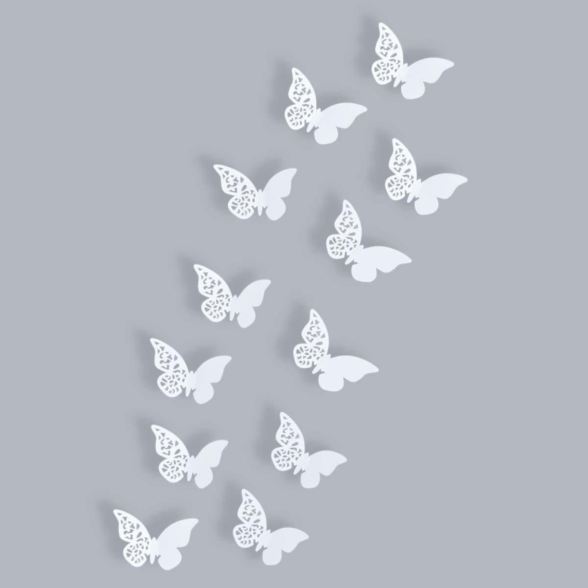"""Deko Schmetterlinge Für Die Wand wand-deko-set """"schmetterling ornament"""", 12-tlg."""