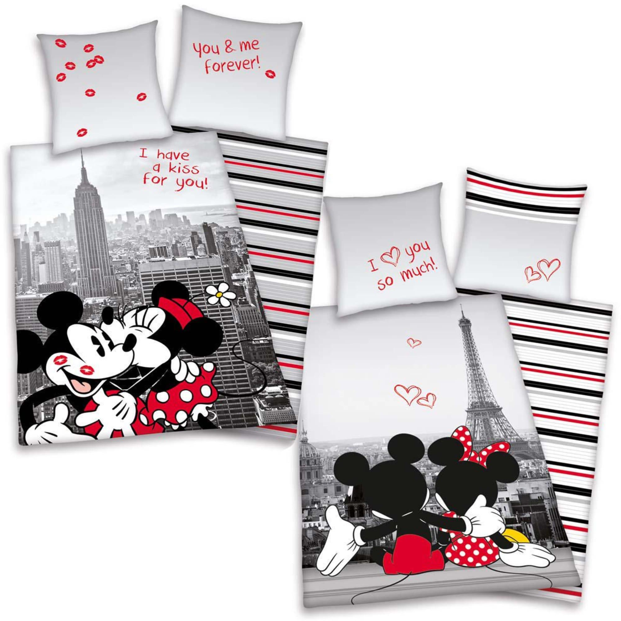 Bettwäsche Mickey Minnie Mit Reißverschluss Wendebettwäsche öko