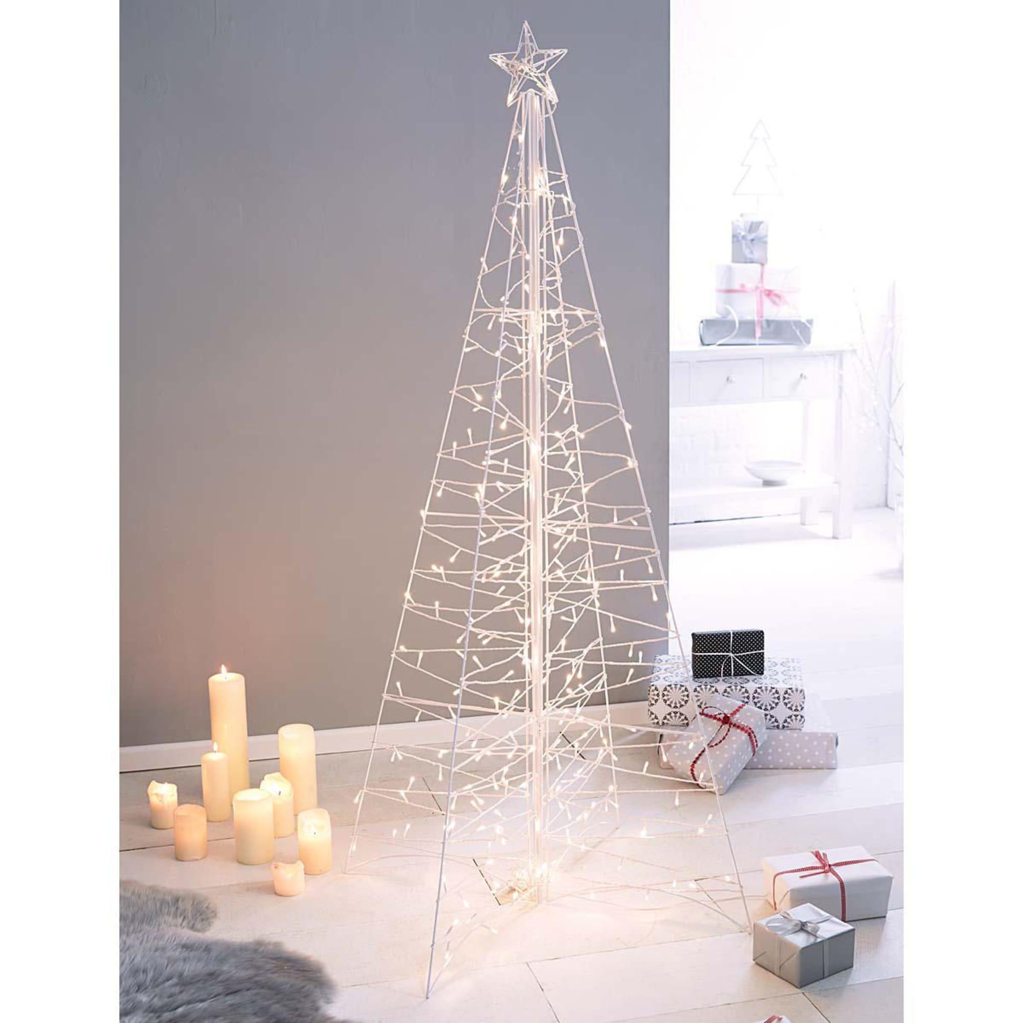 beleuchtete Weihnachts-Pyramide, 264 Lichter, Metall