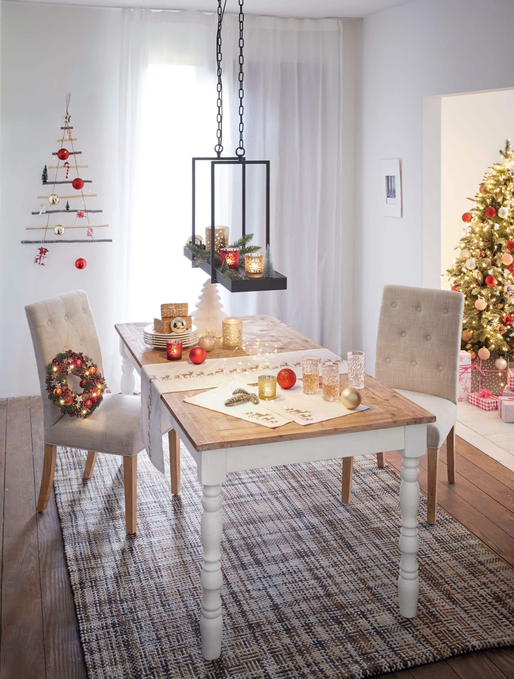 sch n dekorieren k chentisch f r weihnachten ideen. Black Bedroom Furniture Sets. Home Design Ideas