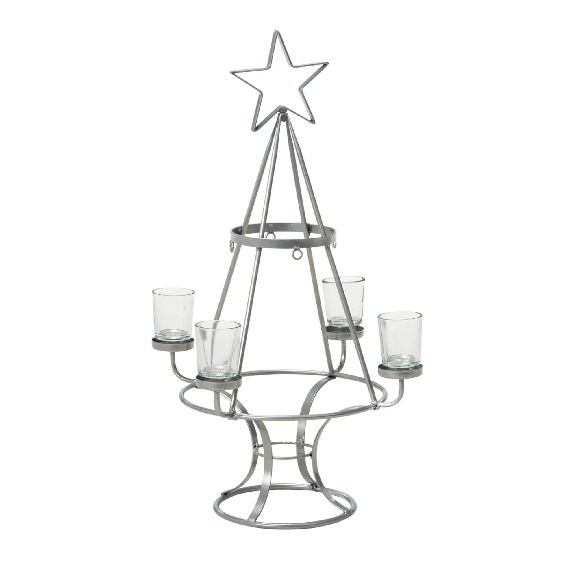 Deko-Objekt Weihnachtsbaum, Metall/ Glas, ca. H150 cm