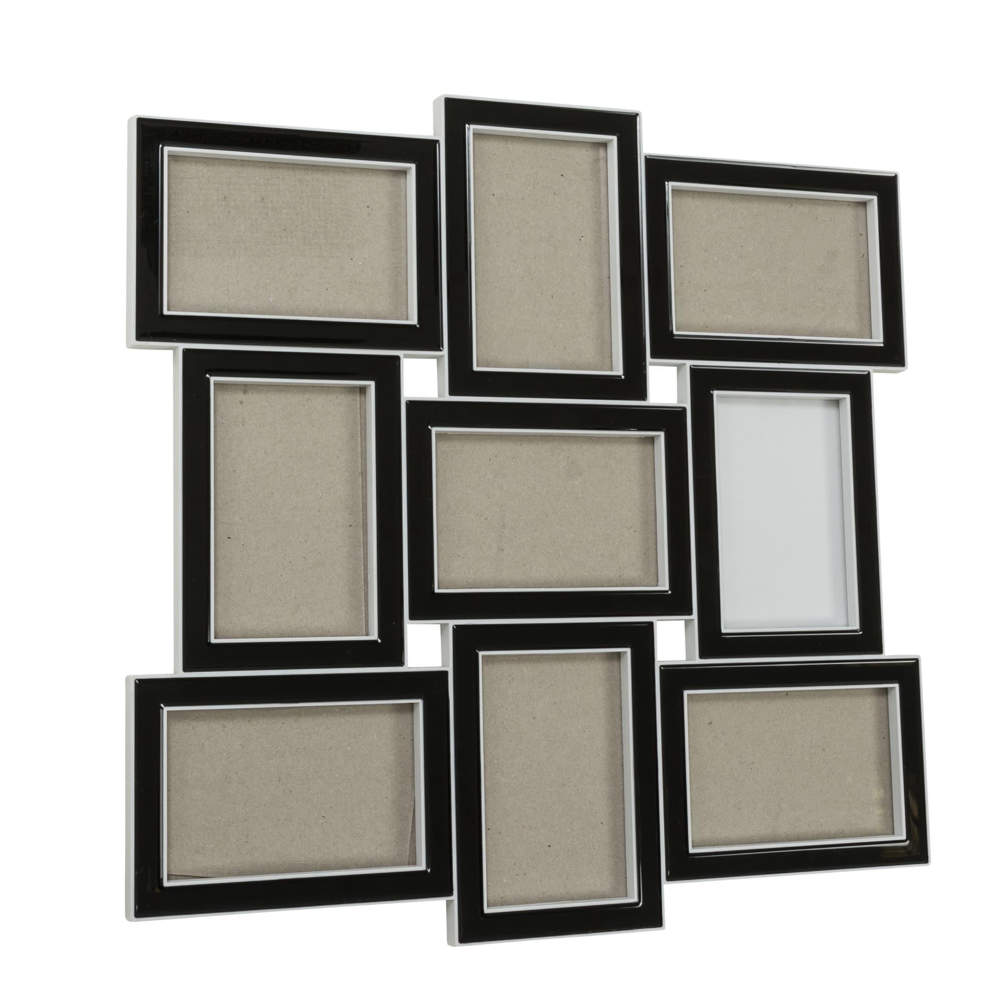 Bilderrahmen Modern Black, Fotogalerie für 9 Bilder, ca.48 x 48 cm