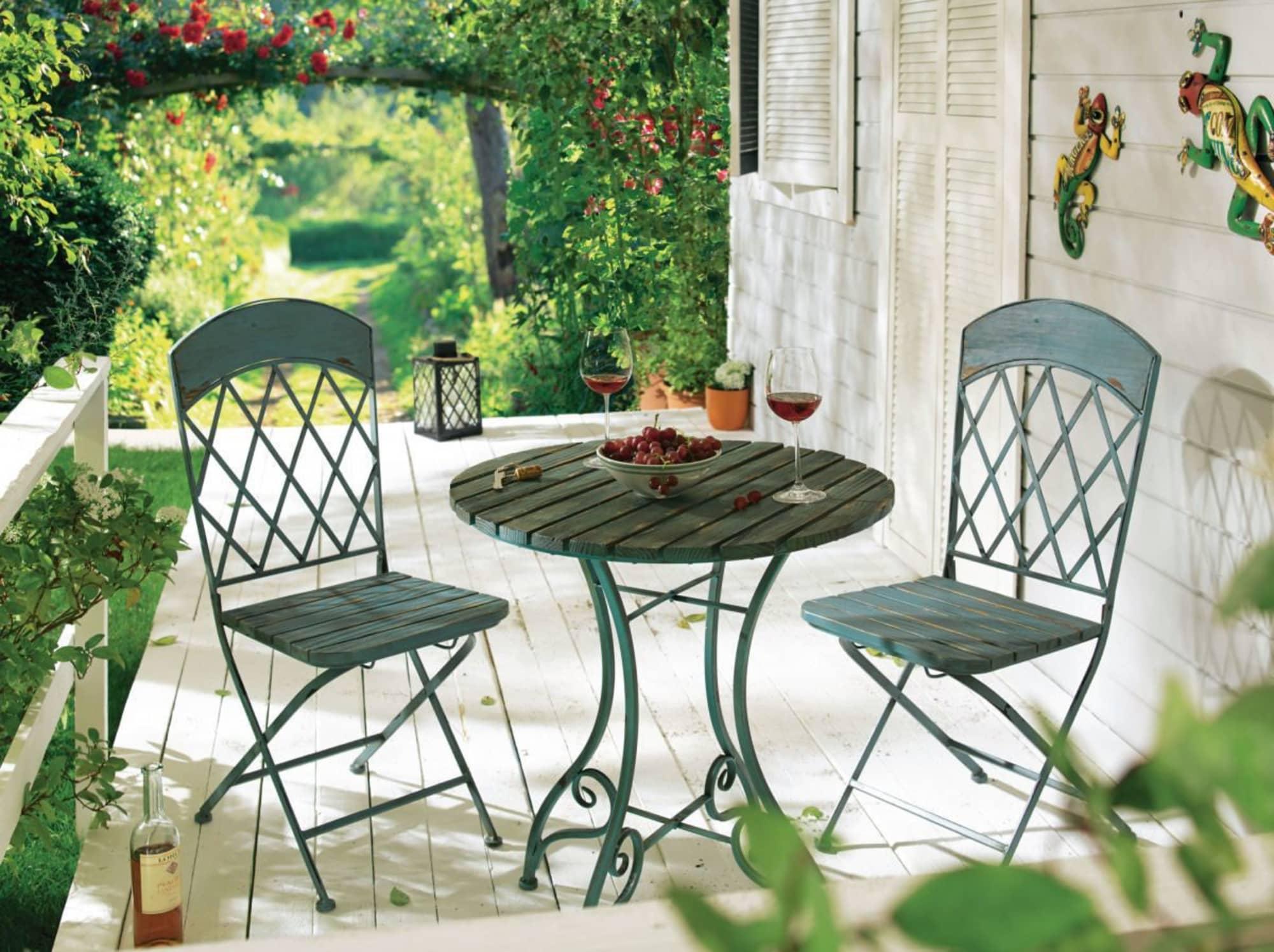 Gartentisch Vintage Rund Vintage Look Metall Ca O 65 Cm