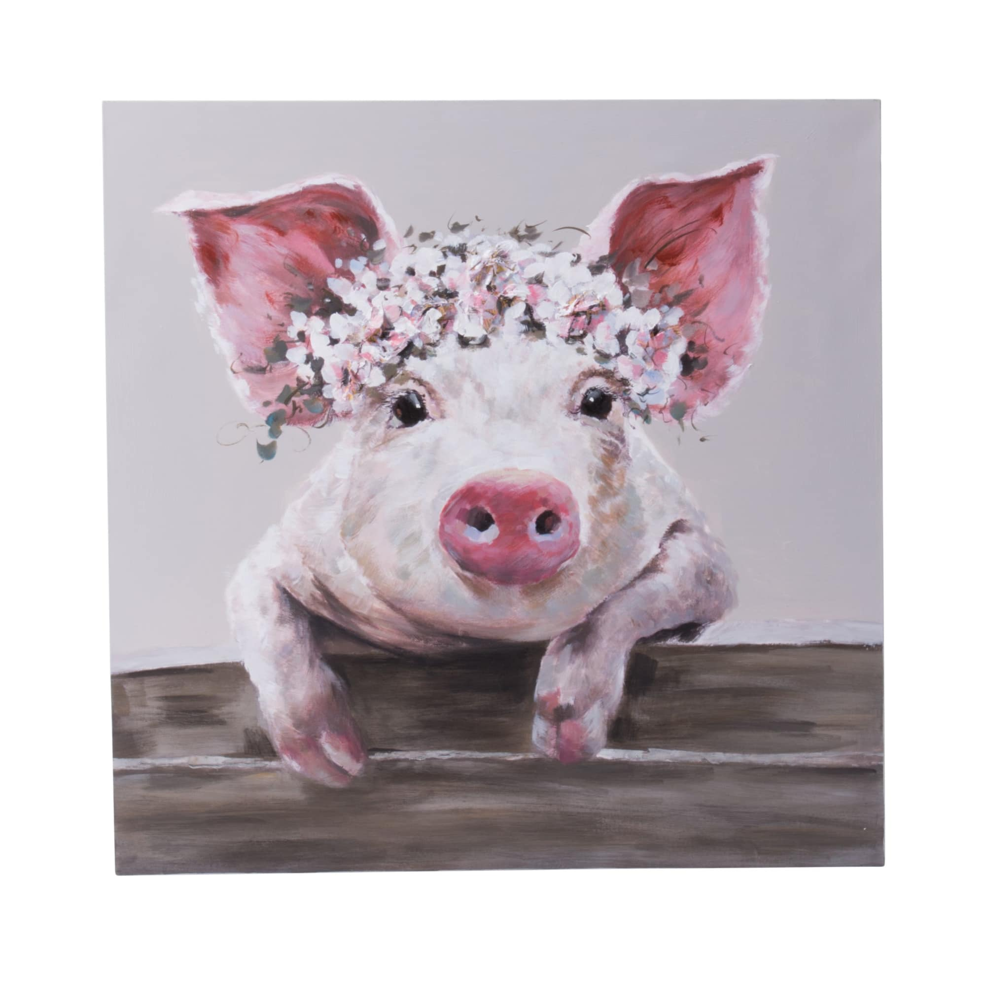 Bild Sweet Pig, Handgemalt, ca. 80x80cm