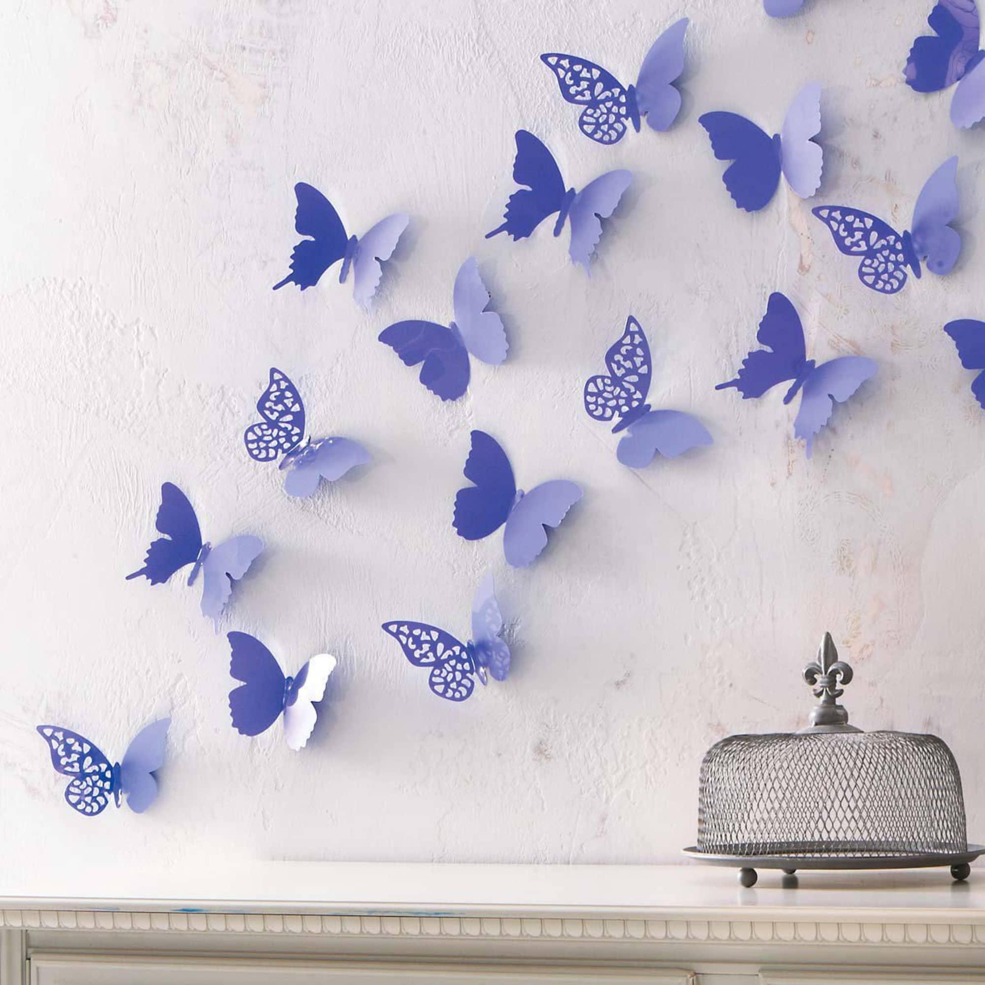 """Deko Schmetterlinge Für Die Wand wand-deko-set """"schmetterling"""", 12-tlg."""
