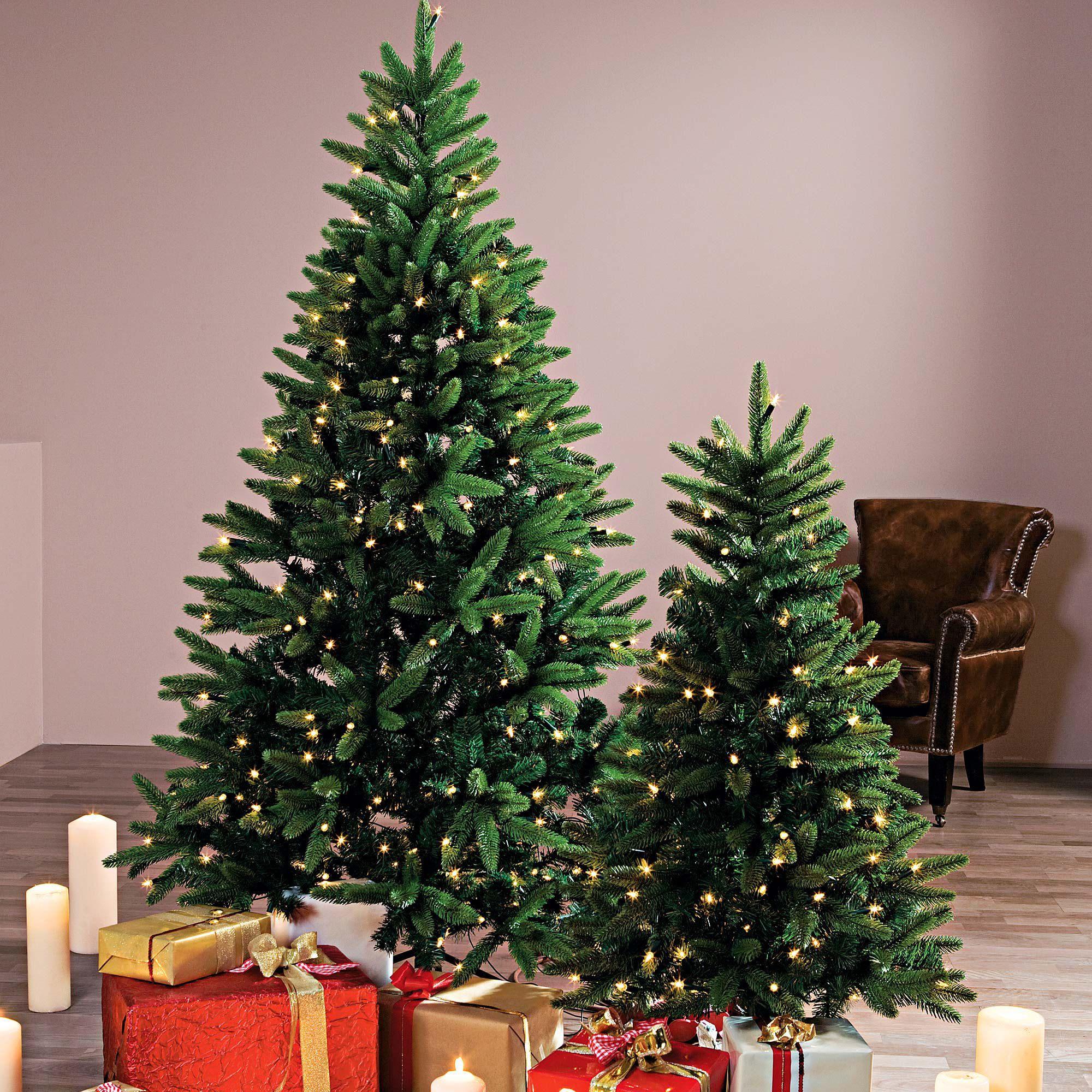 Tannenbaum Beleuchtet Kunststoff.Deko Tannenbaum Beleuchtet Kunststoff Metall Ca H240 Cm