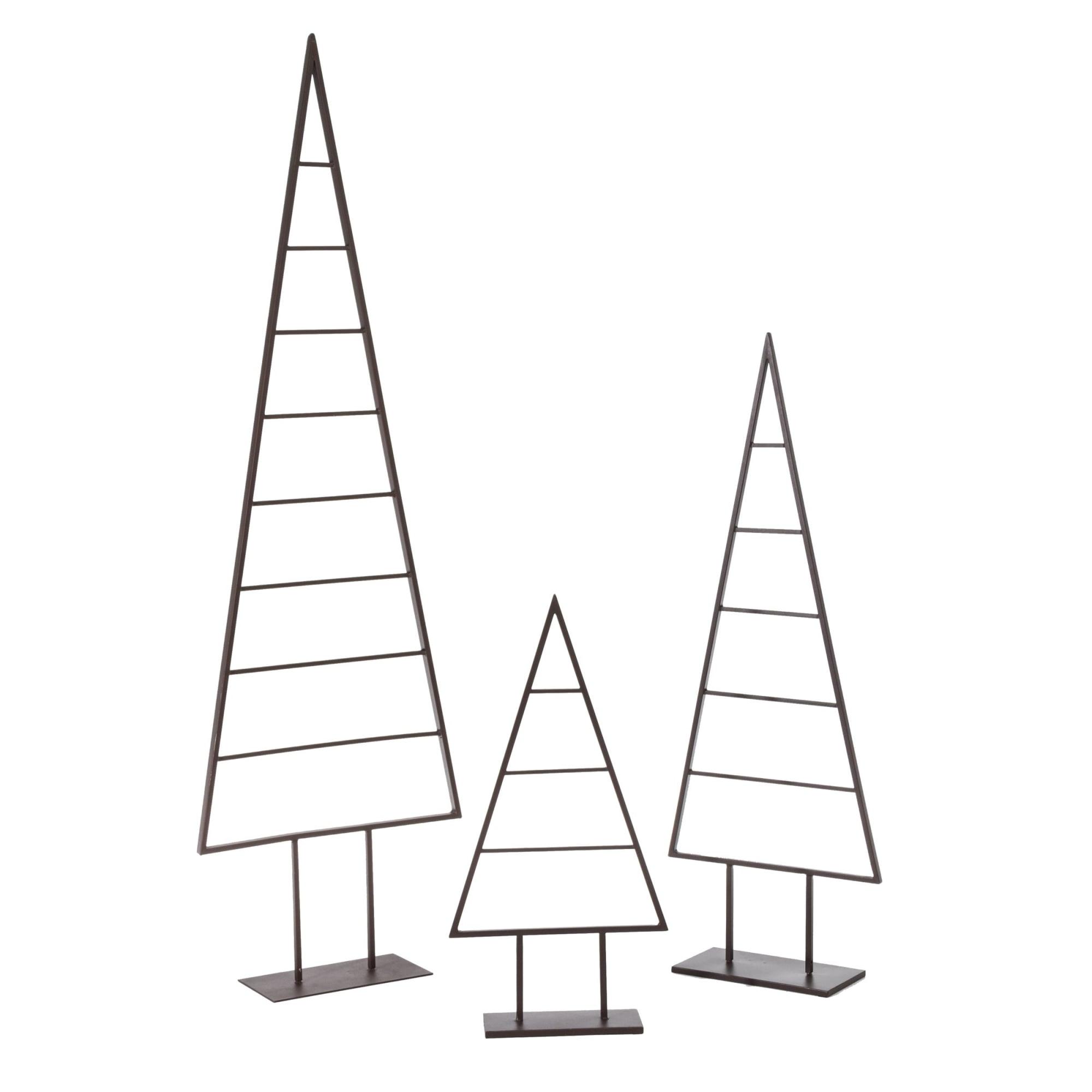 Deko objekt christbaum metall