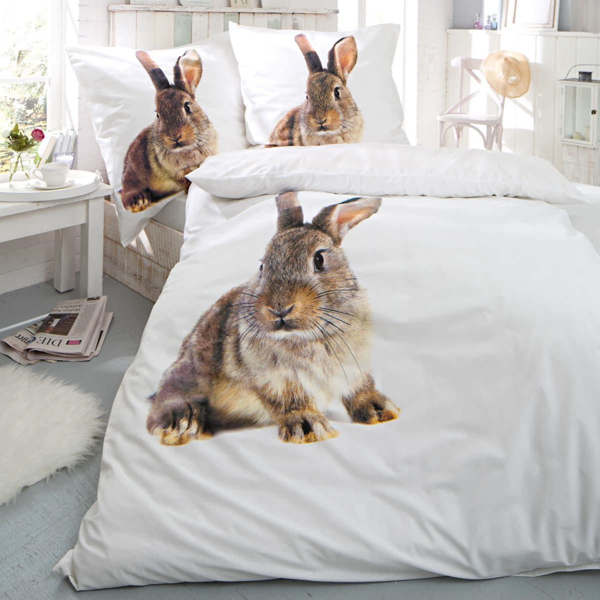 Bettwäsche Hase Mit Reißverschluss Baumwoll Renforcé