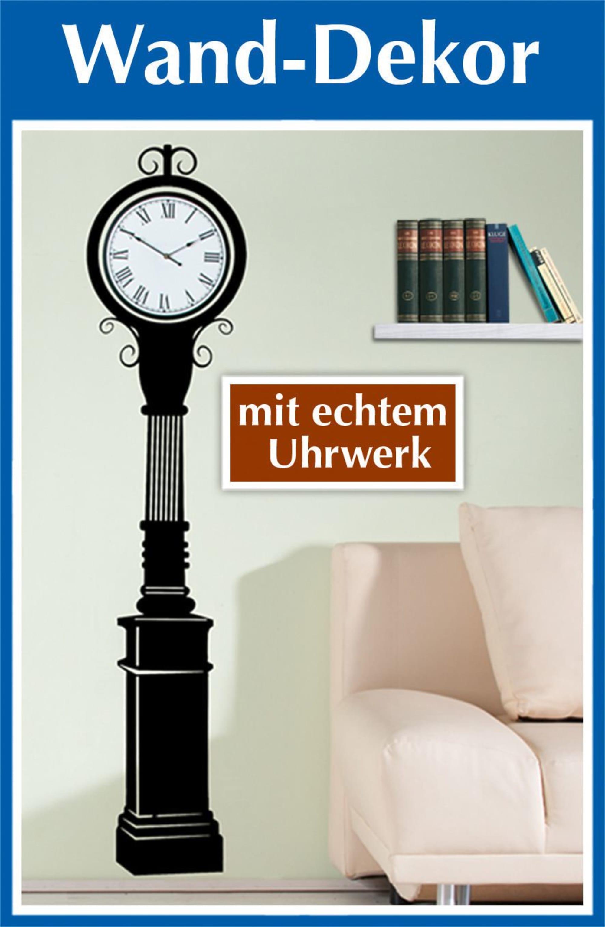 Wandtattoo Uhr Mit Echtem Uhrwerk Hohe 160 Cm