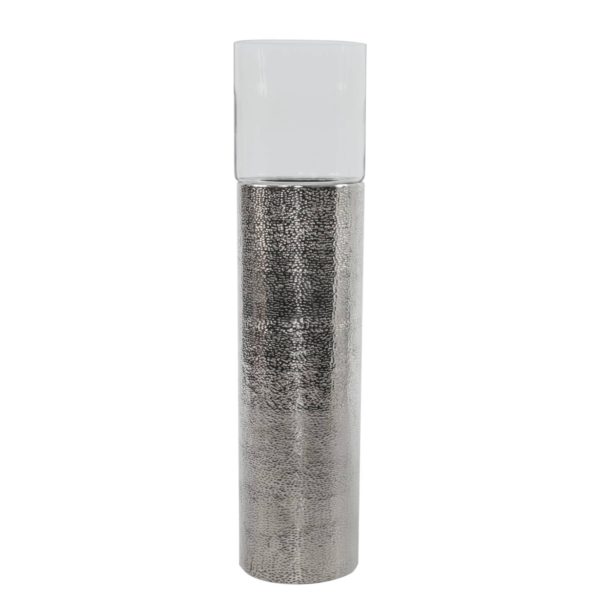 Bodenwindlicht Hurricane Gehammert Aluminium Glas Ca H108 Cm