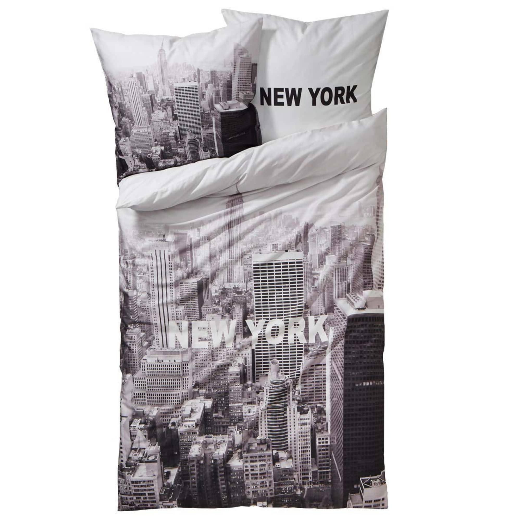 Bettwäsche New York Mit Reißverschluss Baumwoll Renforcé