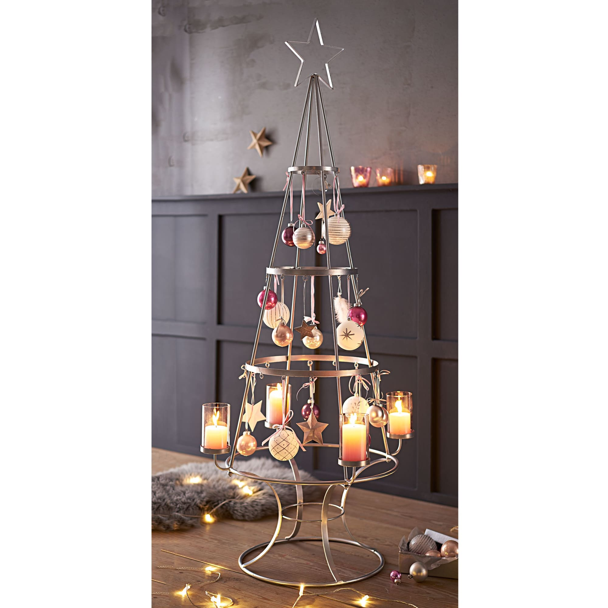 Weihnachtsbaum Metall.Deko Objekt Weihnachtsbaum Metall Glas Ca H150 Cm