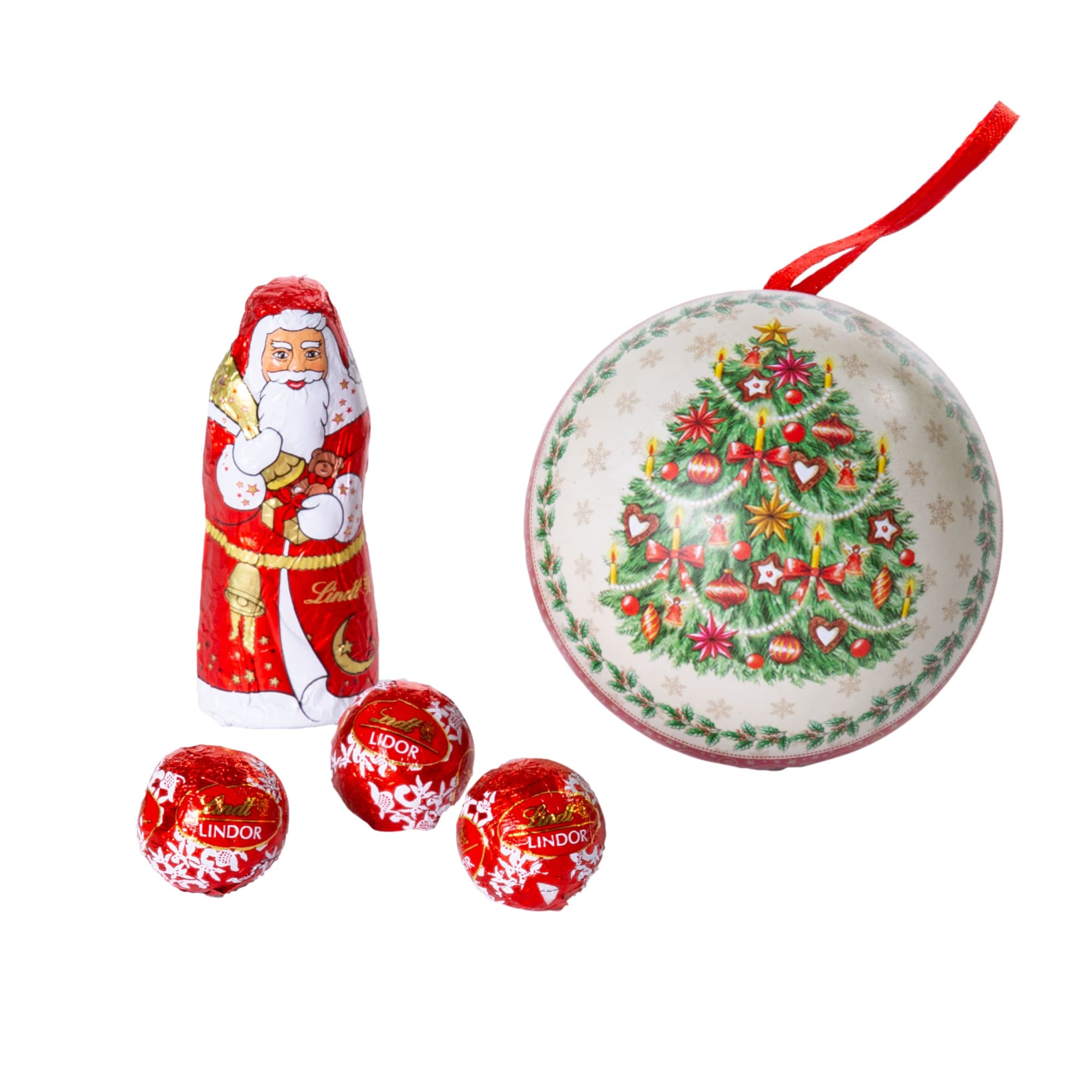 Weihnachtskugel mit Füllung