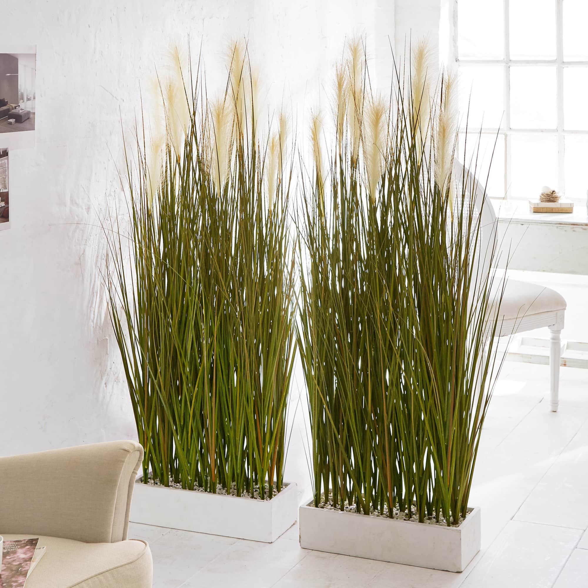 Kunstpflanze Raumtrenner Gras Raumteiler Kunststoff Hohe Ca 153 Cm