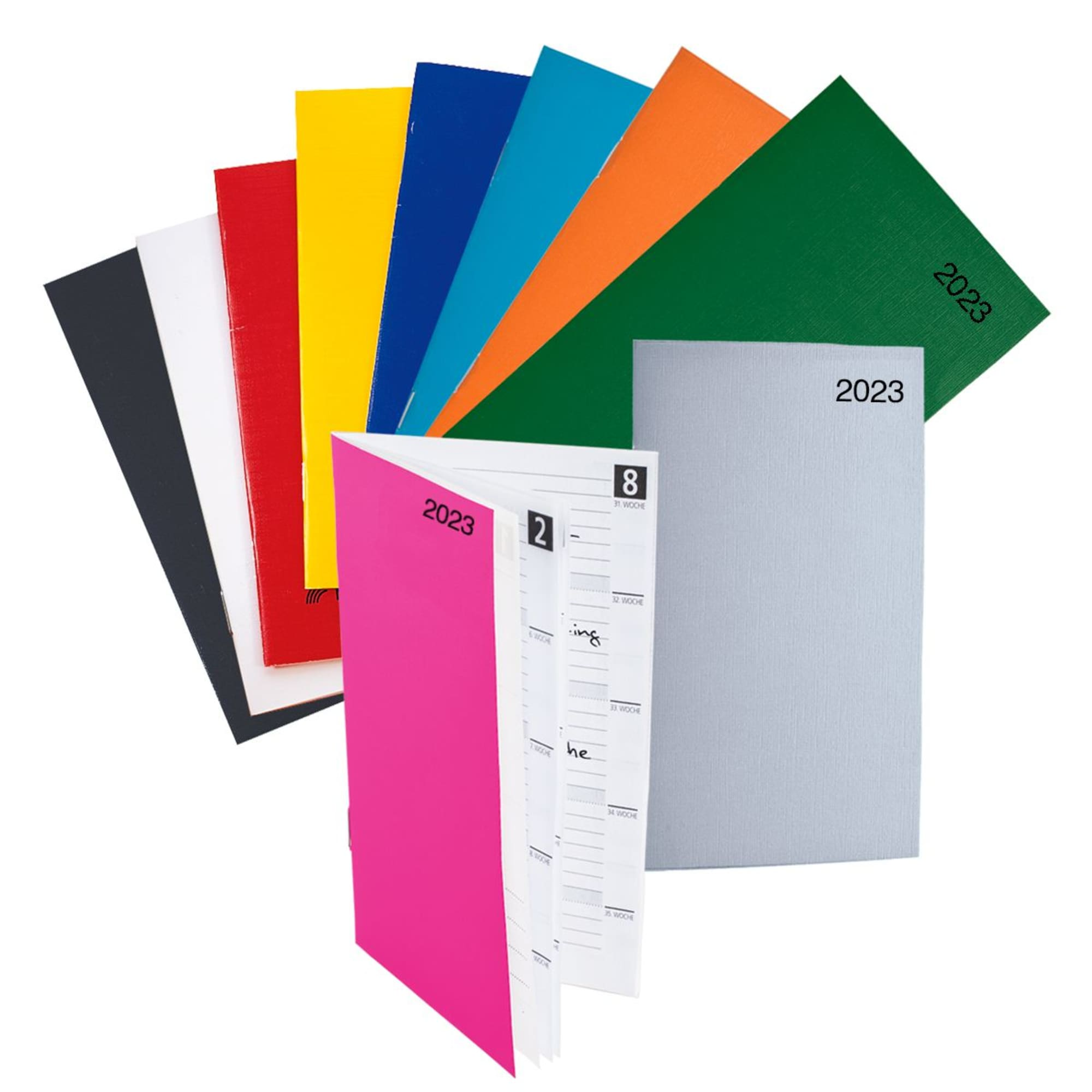 16 Seiten Kalendarium Pink Karton-Taschenkalender