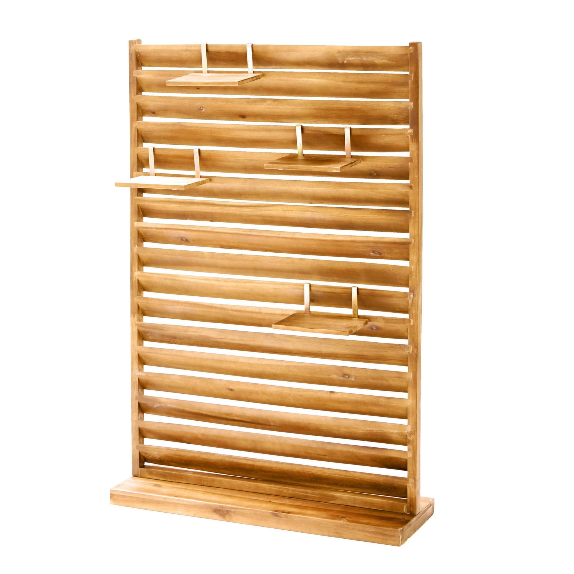 Outdoor Sichtschutz, klein Lamellen, Akazienholz, ca. 20 x 20 cm