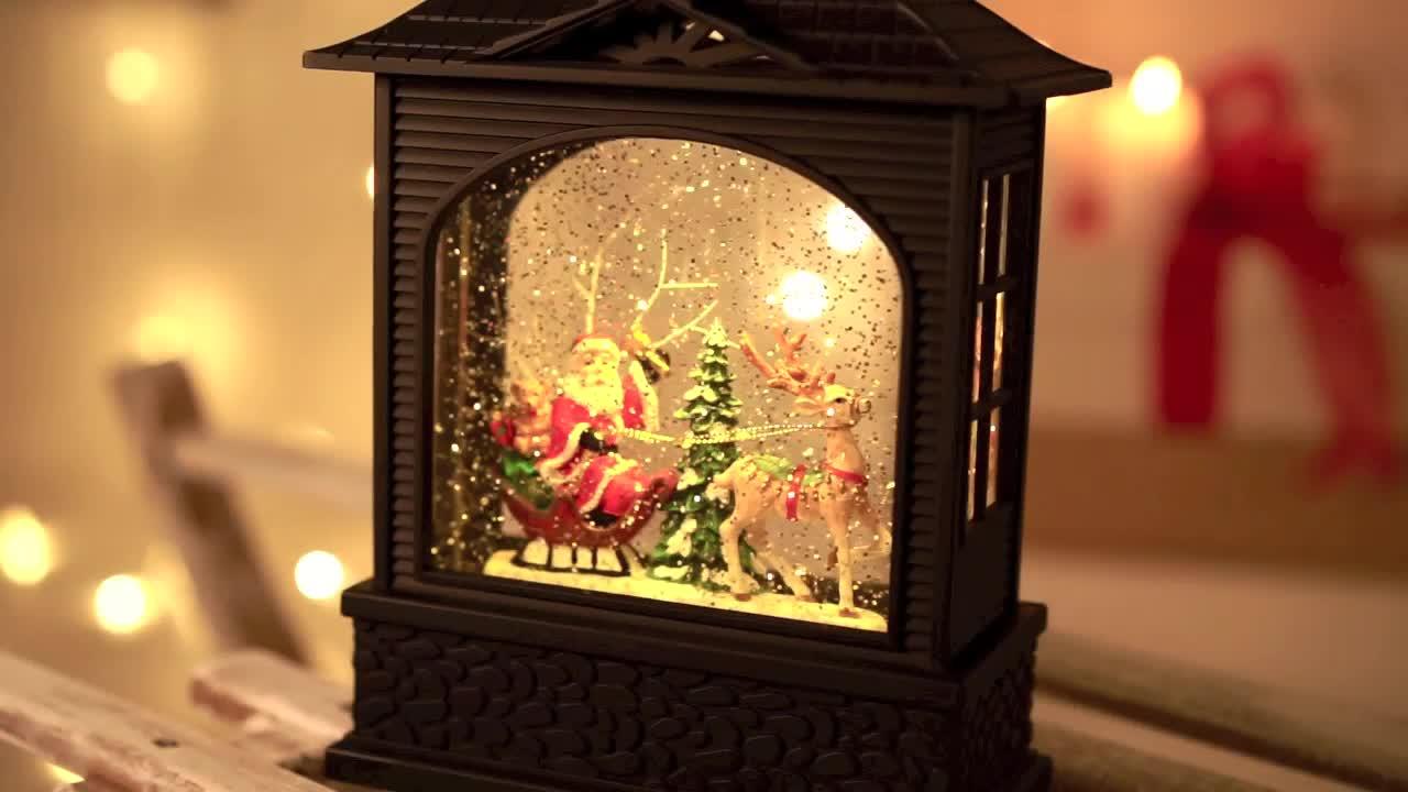 LED-Deko-Laterne Weihnachtsschlitten