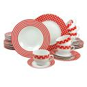 Geschirr-Set, 30-tlg. Peggy Sue, Spülmaschinenfest, mikrowellengeeignet, Porzellan Vorderansicht