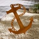 Gartenstecker in rostoptik anker xxl metall ca h 60 cm for Gartenstecker metall rostoptik