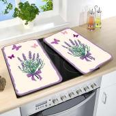 "Herdabdeckplatten-Set ""Lavendel-Bouquet"", 2-tlg. Katalogbild"