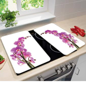 "Herdabdeckplatten-Set ""Orchideenblüte"", 2-tlg. Katalogbild"