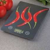 "Digitale Küchenwaage  ""Peperoni"", sehr flach Katalogbild"