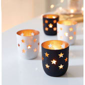 Teelichthalter Sternenmeer, Metall Katalogbild