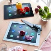 Schneidebrett, Tablet, 2tlg. inkl. gratis App-Magnetset, Tablet-Design, rutschfest Katalogbild