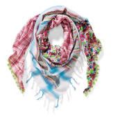 Dreieckstuch Patchwork/Blume, Baumwolle Vorderansicht