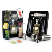 """Geschenk-Set """"Cocktail-Box"""", Rezepte, Shaker, Barmaß, Gläser, Löffel Vorderansicht"""