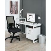 Schreibtisch Hampshire, extra Ablagefläche, 132x62x75 cm Katalogbild