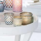 Teelichthalter Punkte, Glas, Durchmesser ca. 7 x H ca. 8 cm Katalogbild