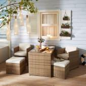 Outdoor-Möbel-Set, 5-tlg. Moreno, sehr platzsparend, inkl. Auflagen Katalogbild