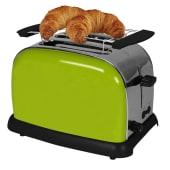 Toaster, Defroster-und Aufwärmfunktion, Edelstahlgehäuse Vorderansicht