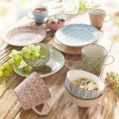 Keramik-Schalen-Set, 4-tlg. Retro, Keramik Katalogbild