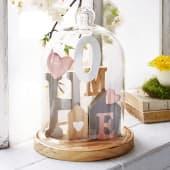Holzdeko mit Glasglocke Home Katalogbild