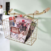 Deko-Objekt Wandkorb Fahrradlenker, Shabby Chic, Metall Katalogbild