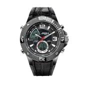 Armbanduhr Digital/Analog, Silikonarmband Vorderansicht