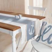 Tischläufer Seaside, mit Anker-Print, Maritimer Look, 100% Baumwolle, ca. 160 x 50 cm Katalogbild
