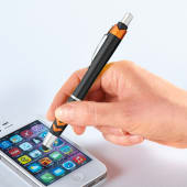 Kugelschreiber Alabama Touchpen, blaue Kunststoffgroßraummine Katalogbild