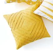 Kissenhülle Yellow Stripes, 100% Baumwolle Katalogbild