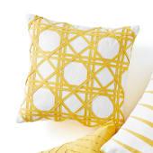 Kissenhülle Yellow Square, 100% Baumwolle Katalogbild