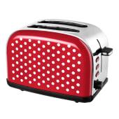 Toaster Retro, stufenlose Bräunungsgradregelung, Edelstahl Vorderansicht