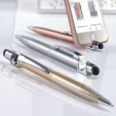 Kugelschreiber Valencia, blaue Kunststoffgroßraummine, Touch Funktion Katalogbild