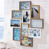 Bilderrahmen Galerie, für 10 Fotos, MDF, ca. 56 x 47 cm Katalogbild