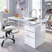 Schreibtisch Oslo, Hochglanz, Schubladen beidseitig möglich Katalogbild