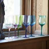 Weinglas-Set, 6-tlg., 6er Set, Farbiges Glas, 350 ml Vorderansicht