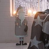 Dekofigur Weihnachtsmann Ferdinand, Metall, ca. H51 cm Vorderansicht