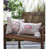 Kissenhülle mit Stickerei und Paspel, hochwertige Blüten-Stickerei, 100% Baumwolle Katalogbild