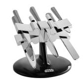 Messerblock, 5-tlg. Star Wars X-Wing, im Stil des Kampfraumschiffs Vorderansicht